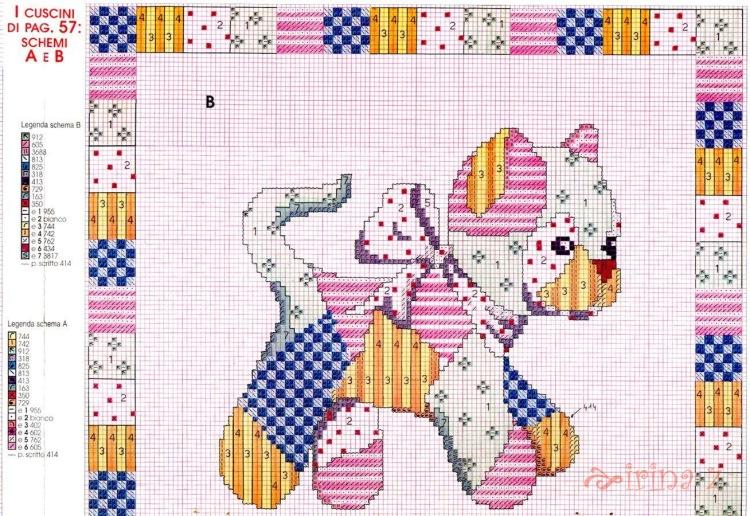 Пэчворк в схемах вышивок подушек