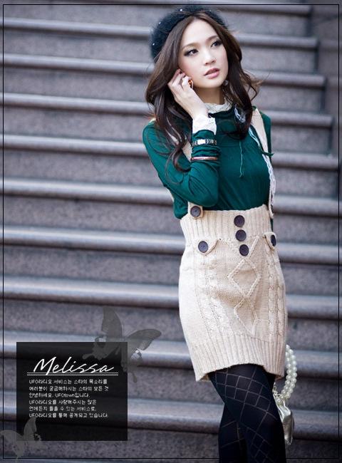 Вязанная юбка для зимы спицами