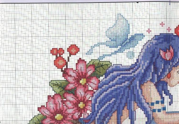 Схемы вышивки с русалками 566