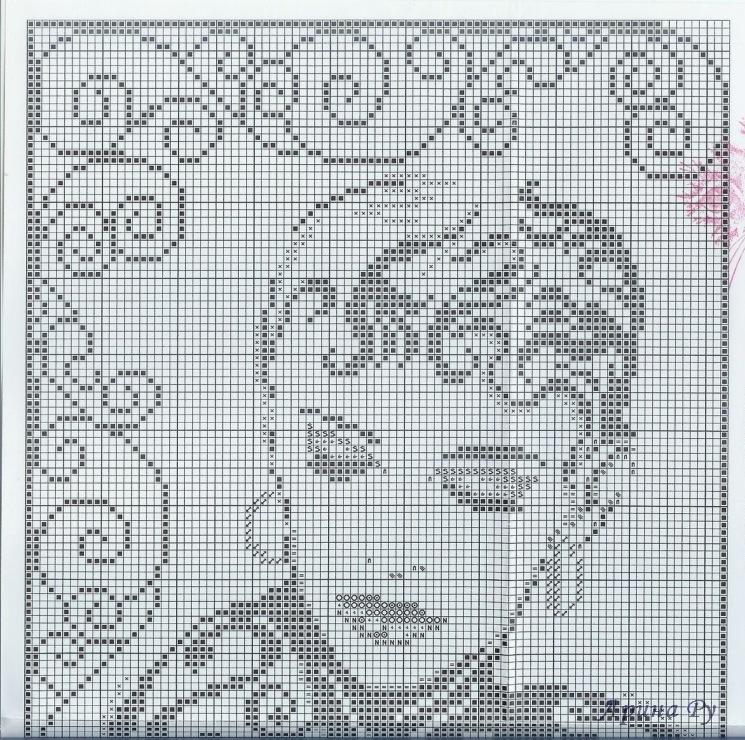 Схема вышивки портрет бесплатно