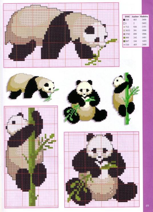 Схема панды в вязании 568