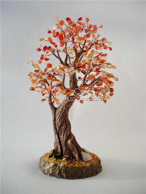 Деревья из натуральных камней. Нефритовый дуб. Мастер 37