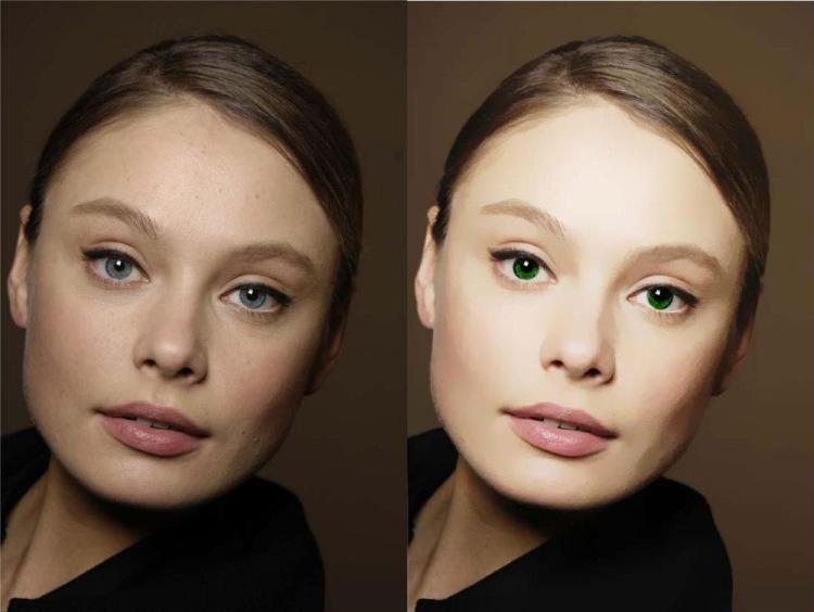 Как ретушь лица сделать