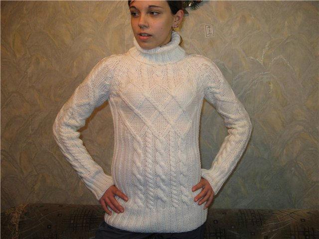Связать свитер из пряжи ализе