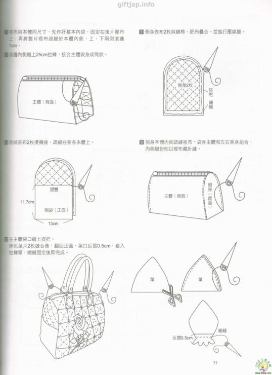 Как сшить сумку пэчворк выкройки 21