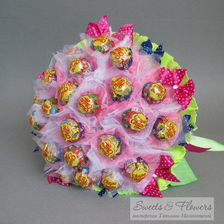 Букеты из конфет своими руками из чупа чупсов 91