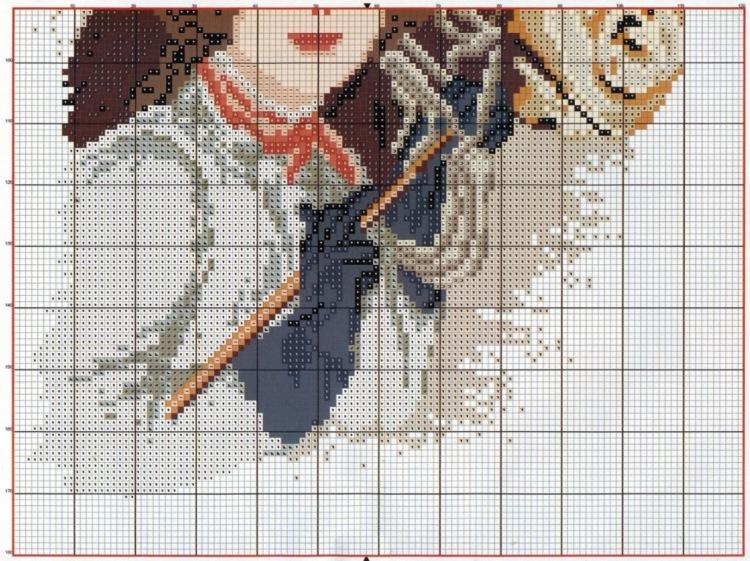 Схемы вышивки крестом борзая 19