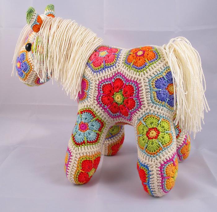 лошадки крючком схемы описание