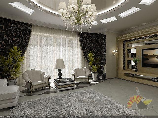 Интерьер зала 40 кв м в частном доме фото