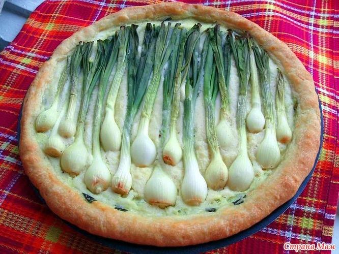 Пирог лук с яйцом с фото