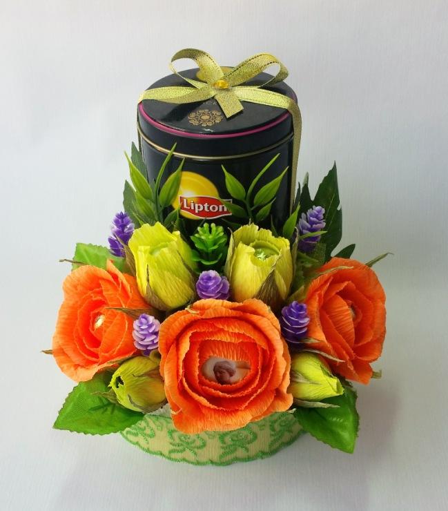 Оригинальный букет из конфет своими руками 12