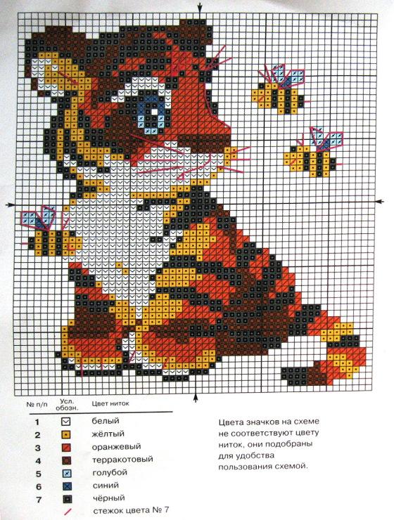 Схем вышивки крестиком буквы 522